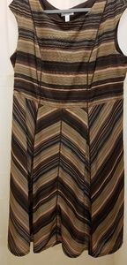 Dressbarn dress brown multi size 20